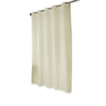 White & Ivory Premium Hookless Stripe Shower Curtains