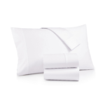 T250 Pillow Cases With Plain White & Tone/Un-Tone Stripe