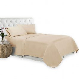 T-200 Bone Color Bed Sheet