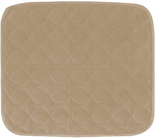 Premium beige color Waterproof Chair Pad 4 Layer Protection Reusable Incontinence Chair Seat Protector